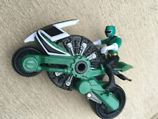 Power rangers super samurai green disc cycle and green ranger figure
