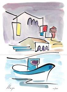 Llop - Ametlla de mar - litografia 30x21 edición limitada