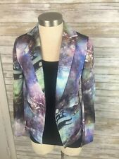 Women's CHOIES Multicolored Long Sleeve lined Blazer w/ graphIc print Size Small