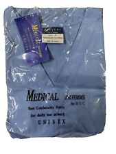 B.I.C.Medical Uniforms Size M Blue Nursing Scrub 2 Piece Outfit Unisex New