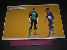 DC COMICS SUPERFRIENDS GREEN LANTERN VS SINESTRO POSTER PIN UP JUSTICE LEAGUE
