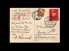 Germany WWII Hitler Birthday KDF Chemnitz 1941 Censor to Rotterdam Card 9o