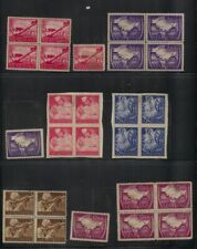 (JY) India Azad Hind Occupation 6 Different Mint No Gum Toned blocks of 4