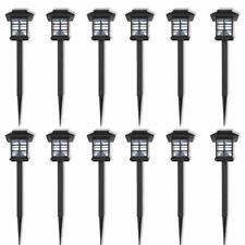 vidaXL 12x Tuinverlichting op Zonne-energie LED Tuin Lamp Buiten Verlichting