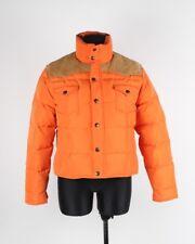 Ralph Lauren Down Winter Women Jacket With Leather APP Size L, Genuine