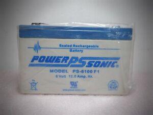 Power-Sonic PS-6100 F1 6V 12AH SLA battery