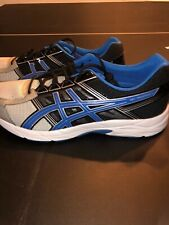 ASICS GEL-CONTEND 4 RUNNING SHOES SILVER BLUE BLACK T716N MENS 12.5 4E rare size