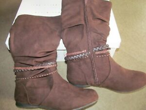 New Canyon River Blues CRB Madison Girls Brown Slouch Boots-Size 3
