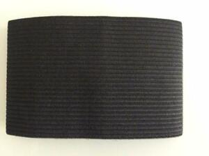 BLACK ARMBAND MEMORIAL FUNERAL MOURNING RESPECT BAND