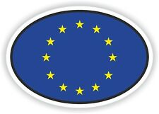 OVAL EU UE EUROPEAN UNION STICKER BELGIUM MOTOCYCLE AUTO TRUCK