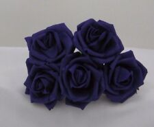 Bulk Buy  6 cm Cadburys Purple Foam Roses, 24  Bunches, Wedding Buttonholes