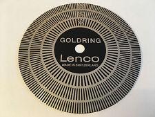 Goldring lenco GL75/78 vintage swiss plateau tournant strobe