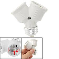 E27 to E27 Light Lamp Bulb Fitting Socket 2 Splitter Converter Adapter Split HY
