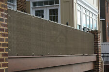 Alion Home© 3,4,5,6FT Tall Custom Length Mocha Privacy Screen Balcony & Fence
