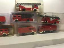 Ho 1/87 Scale Mercedes Man Fire Truck Lot Wiking (7pcs)
