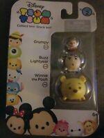 NIP Disney Tsum Tsum Series 2 - Grumpy, Buzz Lightyear & Winnie the Pooh 3-Pack