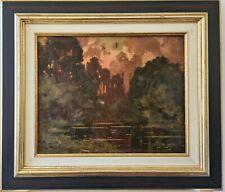 Eugène François DESHAYES (1862-1939) - Paysage au crépuscule - Impressionnisme
