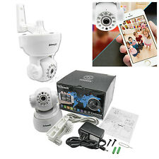 IP Cam web camera HD 720P Wifi Wireless Audio w Pan Tilt Security CCTV white