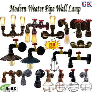 Modern Vintage Industrial Rustic Steampunk Wall Light Metal Water pipe Wall Lamp