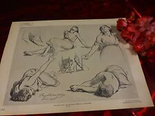signé tony fleury 1875  ,beau crayonnage  étude dernier jour de corinthe  pl40