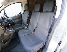 Tailored Peugeot Partner Van 2008+  Front 3 Black Seat Covers Heavy Duty