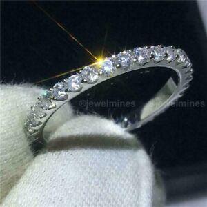 Diamond Eternity Wedding Band Solid 14K White Gold 0.50 CT Round Cut