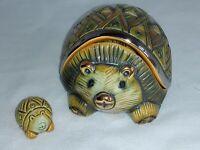 aRTESANIA RINCONADA -Hedgehog Trinket Box w/Baby #605