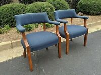 Mid Century Upholstered Armchairs by Jasper Seating - set of two (2)