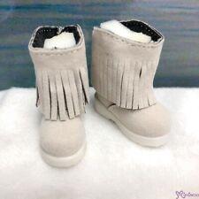 Yo-SD 1/6 BJD Doll Shoes Velvet Tassel Boots Blonde SHU045BLD (for Foot 4.5cm )