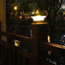 8pcs Led Ssolar Post Lamp Outdoor Garden Fence Landscape Light Evening Lighting