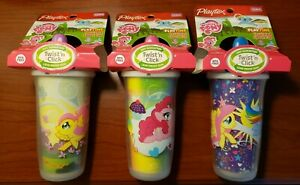 3pk Playtex Sipsters Sippy Cup My Little Pony Pink Insulated 9oz BPA Free 12Mo+