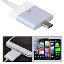 30 pin Female Dock to Micro USB 5 pin Male Charger Data Adapter for Apple Samsun