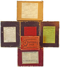 Small Collection of Camera Dry Plate & P.O.P Boxes 19th Century Photographica