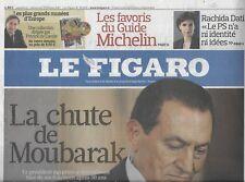 LE FIGARO n°20693 12/02/2011 CHUTE DE MOUBARAK/ NOKIA & MICROSOFT/ SHARON STONE