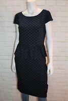 DOROTHY PERKINS Brand Women's Dark Blue Spotted Day Dress Size 14 BNWT #TB06