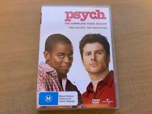 Psych Season 3 The Third Series Three James Roday Dule Hill (DVD 2006 4-Disc) R4