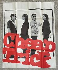"""Cheap Trick Store Promo Poster 44.5x34.5"""" 1982 Cbs Records - Been in Storage"""