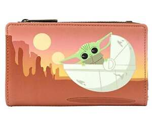 Star Wars Purse Mandalorian The Child Wait For Me Brown official Loungefly