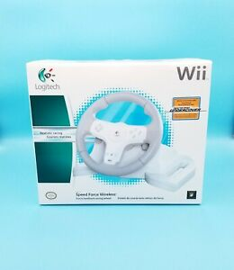 New Logitech Speed Force Racing Wheel for Nintendo Wii Brand new sealed