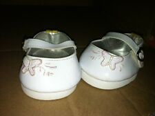 Build a Bear White Flats with Butterfly