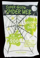 Spider Web Super Glow 2.10 oz Halloween Decor - Stretches to 200 Sq. Ft.