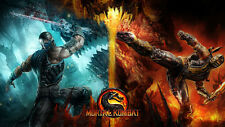 "Mortal kombat 9 Game Silk Cloth Poster 24 x 13"" Decor 51"