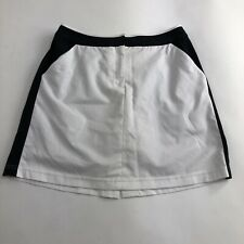 Tail Tech Womens Activewear Golf Tennis Skort Sz 8 White Black Trim
