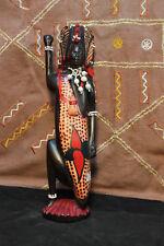 "Wood Carved Turkana Chiefton 12"""