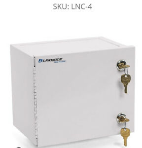 LAKESIDE Lnc-4 Medication Storage Cabinet, Single Door, Double Lockc Compact