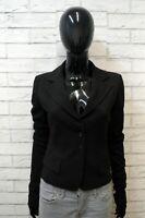 Giacca PATRIZIA PEPE Donna Taglia 42 Cappotto Nero Blazer Jacket Woman Lana