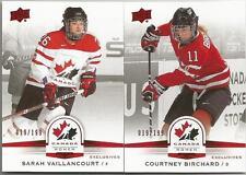 14-15 Team Canada Women Sarah Vaillancourt /199 RED Exclusives 2014 Upper Deck