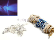 100 pcs LED 5mm UV Purple Water Clear Ultra Bright With Free 12V DC Resistors