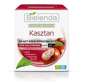 BIELENDA CHESTNUT Soothing Capillary Anti Redness Face Cream Hydrating 50ml