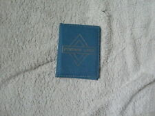 VINTAGE PENSION CARD WALLET REAL LEATHER BLUE/COULD BE USED FOR BUS PASS